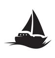 Sailing Boat icon vector image