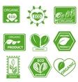 Organic products leaflet logo vector image