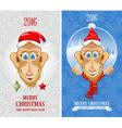 New Year Monkey vector image