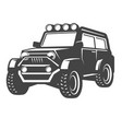 off-road car isolated on white vector image