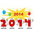 2014 cartoon card vector image vector image