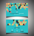 abstract business card design 1309 vector image vector image