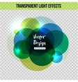 Abstract circle with glowing effect over vector image