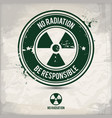 alternative no radiation stamp vector image vector image