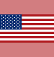 american flag flat layout vector image vector image