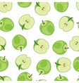 Apple seamless pattern Green apple pattern on vector image vector image