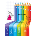 back to school concept background with children vector image vector image