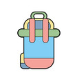 backpack to go to exploration of vacation vector image vector image