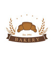 bakery dessert baverage sign logo template vector image