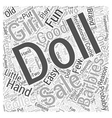 barbies for sale Word Cloud Concept vector image vector image