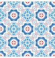 blue red pattern flower ornament