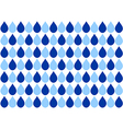 Blue Water Drops White Background vector image vector image
