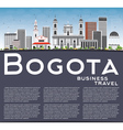 Bogota Skyline with Gray Buildings vector image vector image