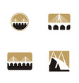 bridge logo design set collection vector image