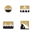 bridge logo design set collection vector image vector image