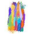 brush and splash design background vector image
