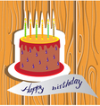 candle cake vector image