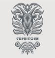 capricorn vintage vector image