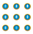 cereal icons set flat style vector image vector image
