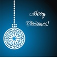 christmas postcard with graphic christmas tree vector image vector image