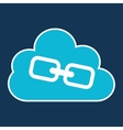 cloud technology web language link vector image vector image