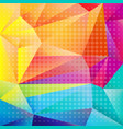 colorful origami background vector image vector image