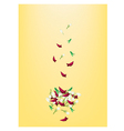 corolla roses and jasmines on yellow background vector image vector image