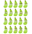 cute cartoon squash smile with many expressions vector image vector image