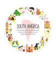 decorative banner with symbols south america vector image
