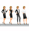 elegant business women in formal clothes vector image vector image
