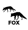 fox silhouette isolated on vector image vector image