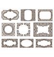 frames set for cards with floral details vector image vector image