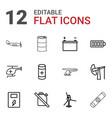 fuel icons vector image vector image
