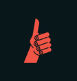 gesture like sign stylized hand with thumbs up vector image