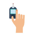 glucometer hand test vector image vector image