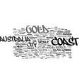 gold coast australia text background word cloud vector image vector image