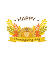 happy thanksgiving day concept background flat vector image vector image