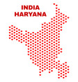 haryana state map - mosaic of lovely hearts vector image vector image