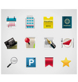 hotel and traveling icons vector image vector image