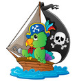 image with pirate parrot theme 1 vector image vector image