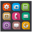 interface icons flat vector image