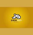 js j s alphabet letter combination digit white on vector image vector image