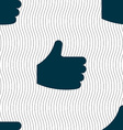 Like Thumb up icon sign Seamless pattern with vector image