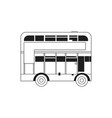 line london bus urban city transport vector image vector image