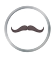 Man s mustache icon in cartoon style isolated on vector image vector image