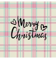 Merry christmas Hand painted lettering isolated vector image