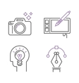 Photography icons camera design studio symbol lens vector image vector image