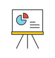 pie chart data report icon concept editable vector image vector image