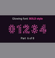 pink glowing font in the outline style vector image