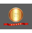 Premium and High Quality Gold Label vector image vector image